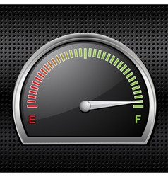 fuel gauge full vector image vector image