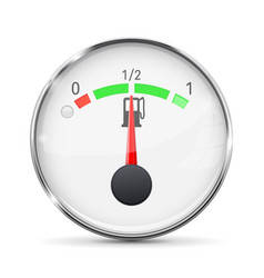 fuel gauge with metal frame half tank vector image vector image