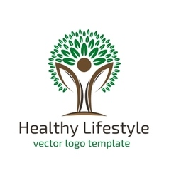 Healthy lifestyle logo vector image