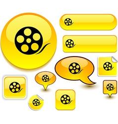 Media yellow signs vector