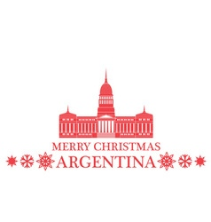Merry christmas argentina vector