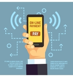Online payment transfer mobile pay with vector image vector image