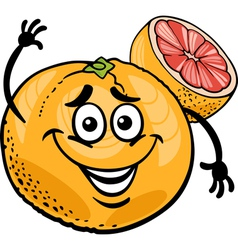 red grapefruit fruit cartoon vector image vector image