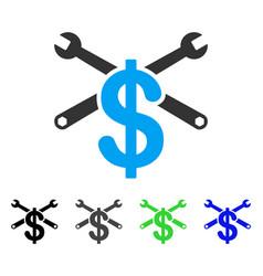 Repair service price flat icon vector