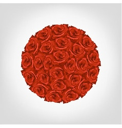 round from red roses vector image vector image