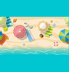 seamless beach resort with colorful beach vector image vector image