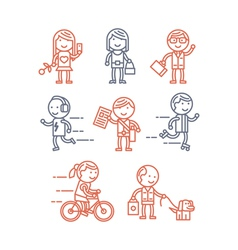 Set of people vector image vector image