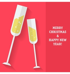 Sparkling Wine Christmas vector image vector image