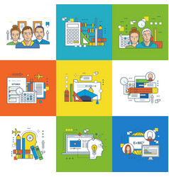 training education project planning and teamwork vector image vector image