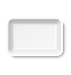 white empty styrofoam food tray vector image vector image