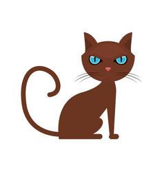 Cat cartoon icon vector