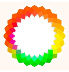 Abstract digital flower vector