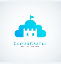 Cloud castle vector