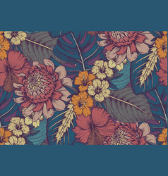 Seamless pattern with compositions of hand vector