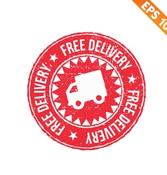 Rubber stamp free delivery - - eps10 vector