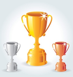 Trophies - Gold Silver and Bronze vector image