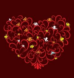 decorative heart vector image