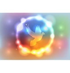 Heaven glow dove vector