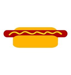 Hot dog vector image