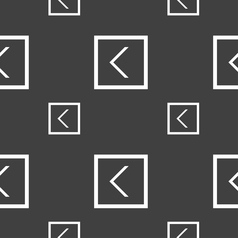 Arrow left way out icon sign seamless pattern on a vector