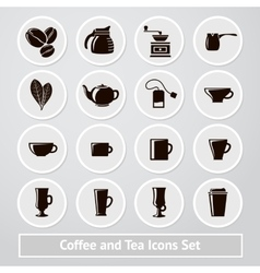 Set of coffee and tea icons for shops vector