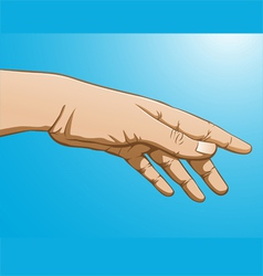 reaching hand vector image