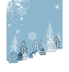 Winter blue landscape vector