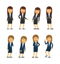 Business woman emotions vector