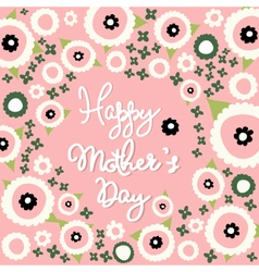 Mothers day floral pattern vector