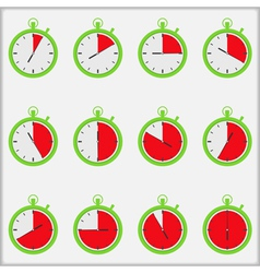 Time indicators vector