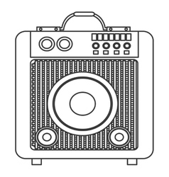 Concert speakers icon vector