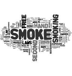A breath of fresh air text word cloud concept vector