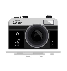 Abstract retro photo camera isolated on white vector