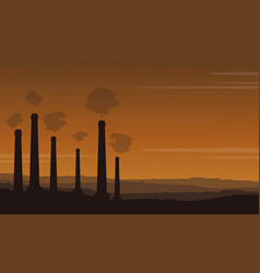 Bad environment pollution industry background vector