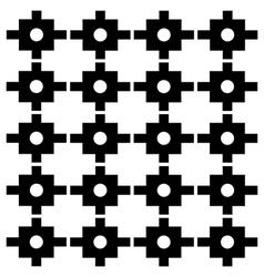 Block print wallpaper vector image vector image