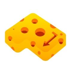 Cheese enter sign vector