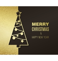 Christmas tree with glitter effect vector