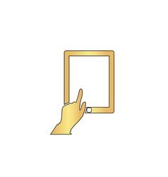 Click tablet computer symbol vector