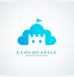 Cloud castle vector