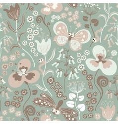 Colorful seamless floral pattern with stylized vector