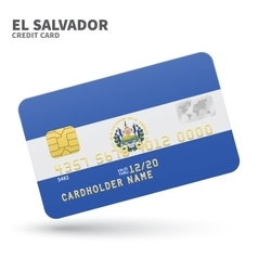Credit card with el salvador flag background for vector