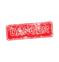 Danger red grunge rubber stamp vector