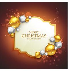 Elegant merry christmas festival greeting vector
