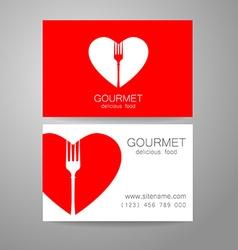Gourmet food logo vector