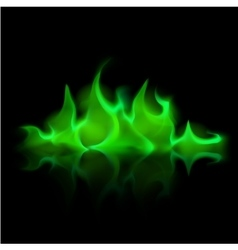 Green Magic Fire Flame Bonfire on Background vector image vector image