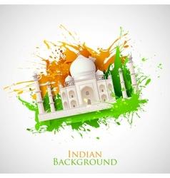 Grungy Taj Mahal vector image
