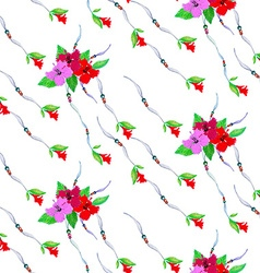 Hibiscus pattern5 vector image