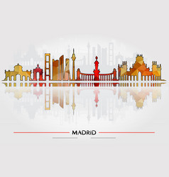historic buildings of madrid vector image vector image