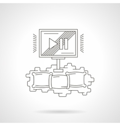 Home cinema theater detailed line icon vector