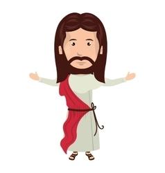 Jesus christ man cartoon vector